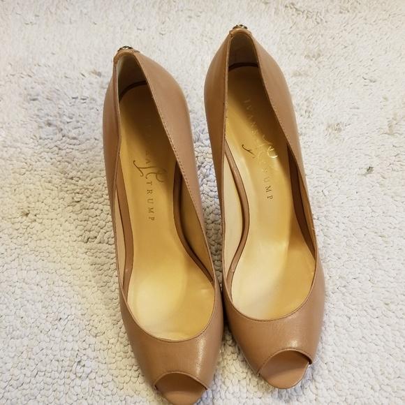 2773993d8562 Ivanka Trump Shoes - Ivanka Trump Cleo Peep Toe Heels - Nude 8.5